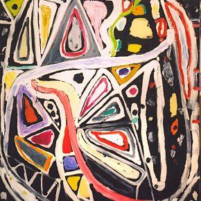 34 Gillian Ayres, Dark Carnival, Oil on canvas, 213.3 x 152.4 cm, 2003