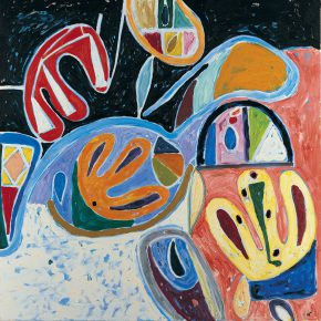 "36 Gillian Ayres Get Back Oil on canvas 213 x 213 cm 2006 290x290 - Celebration of Life and the Experience of the Sublime: Gillian Ayres' Abstract Painting ""Sailing off the Edge"""