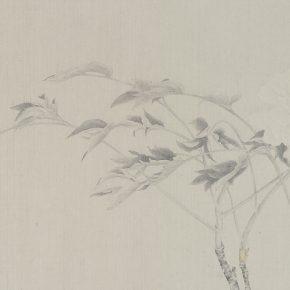 Gao Qian, Yu Jiao Zhi No.1, ink and color on paper, 41 x 131 cm, 2015