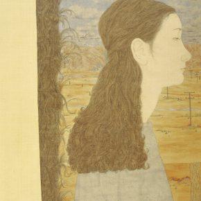 Zhang Jian, Autumn of 2001, 55 x 43 cm, silk, 2001