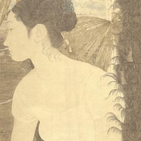 Zhang Jian, Autumn of 2002, 55 x 44 cm, silk, 2002