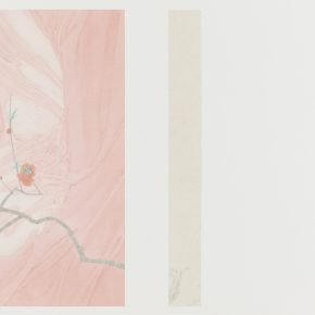 Zhang Jian, The Implied Spring • Flowing Wind, 58 x 84 cm, silk, 2015