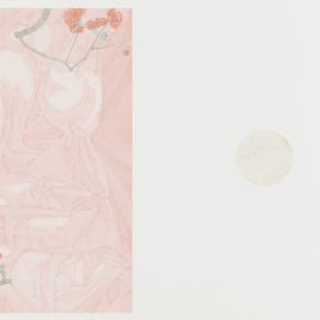 Zhang Jian, The Implied Spring • Mirror Flowers, 58 x 84 cm, silk, 2015