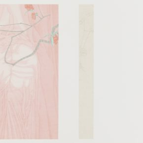 Zhang Jian, The Implied Spring • Reflection of the Moon, 58 x 84 cm, silk, 2015