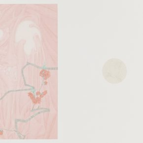 Zhang Jian, The Implied Spring • Snow, 58 x 84 cm, silk, 2015
