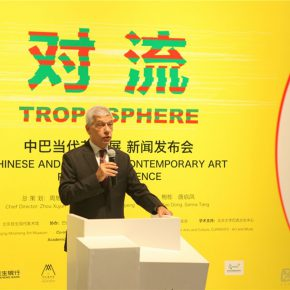 """02 Marcos Caramuru de Paiva Brazilian Ambassador to China delivered a speech 290x290 - Press Conference on """"Troposphere – Chinese and Brazilian Contemporary Art"""" Announced"""