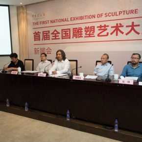 "02 Press conference of ""The First National Sculpture Art Exhibition"""