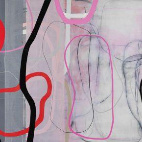03 Zhou Li, Pink-Lines No. 1, 2017; Mixed media on canvas, 200×300cm