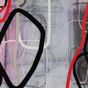 04 Zhou Li, Pink-Lines No. 2, 2017; Mixed media on canvas, 200×300cm