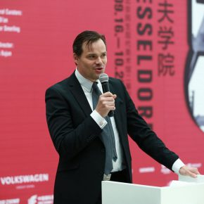 """05 Dr. Stephen Senior Vice President of Global Culture and Sponsorship Siemens Germany addressed the opening ceremony 290x290 - Photographers from the Düsseldorf School to Talk about """"The Language of Photography"""""""
