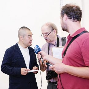 "06 Director Sun Yongzeng was interviewed by the media 290x290 - The First Show of ""Next Generation"" Focuses on Young Art Inaugurated the Deutschland 8"
