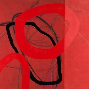 06 Zhou Li, Red No. 2, 2017; Mixed media on canvas, 200×300cm