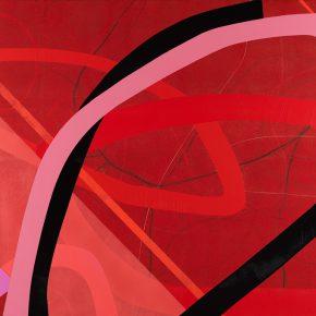 07 Zhou Li, Red No. 1, 2017; Mixed media on canvas, 200x300cm