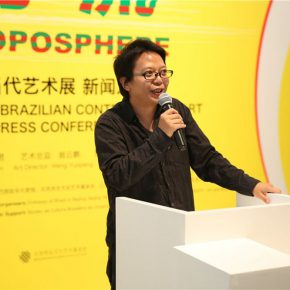 """08 Hu Xudong Deputy Director of Brazilian Culture Center of Peking University delivered a speech 290x290 - Press Conference on """"Troposphere – Chinese and Brazilian Contemporary Art"""" Announced"""