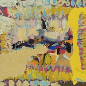 08 Liu Wenjiong, Double Spaces – Yellow No.1, mixed media, 100 × 80 cm, 2015