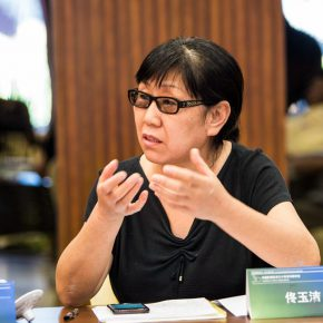"""08 Symposium of """"30 Years of Chinese Video Art"""" – Tong Yujie delivered a speech 290x290 - The Discussion Waiting for a Conclusion: Symposium of 30 Years of Chinese Video Art"""