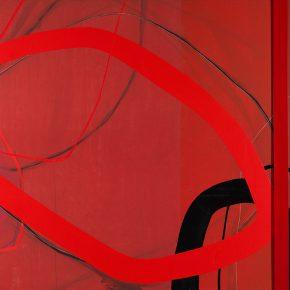 08 Zhou Li, Red No. 4, 2017; Mixed media on canvas, 200x300cm