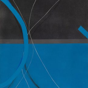 09 Zhou Li Blue – Light No.4 100 x 200 cm 290x290 - Ring as State, Breath as Root: Zhou Li Talked about the State of Creating
