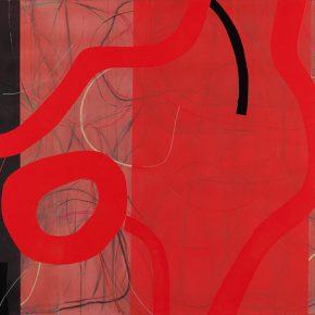 09 Zhou Li, Red No. 6, 2017; Mixed media on canvas, 130x300cm