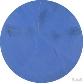 10 Zhou Li Blue – Light No.1 mixed media on canvas Φ160 cm 2017 290x290 - Ring as State, Breath as Root: Zhou Li Talked about the State of Creating