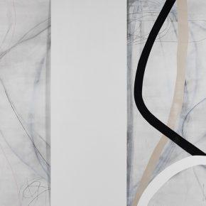 13 Zhou Li, Lines-White Shadow-Line No. 1, 2017; Mixed media on canvas, 200×300cm