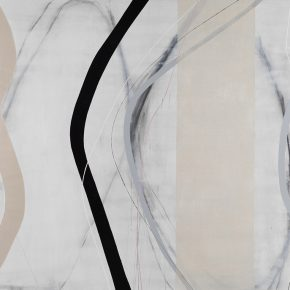 14 Zhou Li, Lines-White Shadow No. 2, 2016; Mixed media on canvas, 200x300cm
