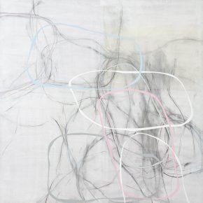15 Zhou Li, Lines-White Shadow-Line No. 2, 2017; Mixed media on canvas, 200×300cm
