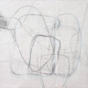 16 Zhou Li, Lines-White Shadow-Line No. 6, 2017; Mixed media on canvas, 200×300cm