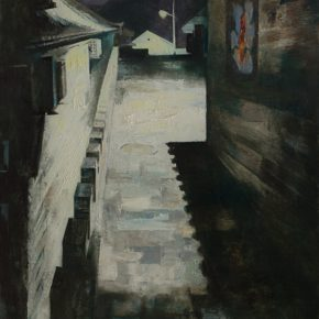 33 Ye Nan, Night of an Ancient Town No.1, oil on canvas, 175 x 80 cm, 2011