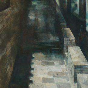 35 Ye Nan, Night of an Ancient Town No.3, oil on canvas, 175 x 80 cm, 2011