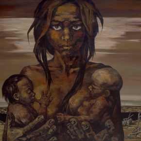 86 Ye Nan, Kids, What Can I Take to Nurture You, oil on canvas, 2009