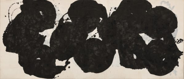 Yang Jiechang, Śarīra No. 2 (Relics No. 2), 2014; Ink on Xuan paper, mounted on canvas, 64 x 148 cm