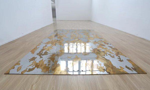 Zhao Zhao, Desert, 2017; Bronze, Steel, 500x300cm