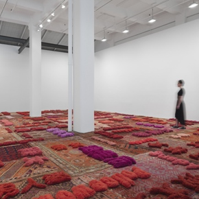 Protruding Patterns: Lin Tianmiao Solo Exhibition is on view at Galerie Lelong
