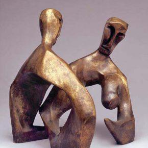 Константин Селиханов Meeting 1997 Sculpture 26x28x20cm 290x290 - NAMOC presents Sculpture Exhibition of Сергей Иванович Селиханов and Константин Селиханов