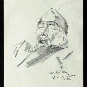 Сергей Иванович Селиханов Qi Baishi 1956 Drawing 14.3x20cm 290x290 - NAMOC presents Sculpture Exhibition of Сергей Иванович Селиханов and Константин Селиханов