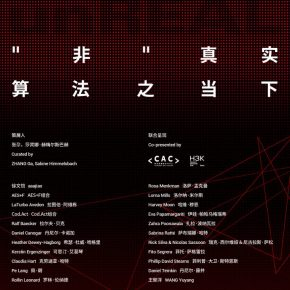 "00 Poster 290x290 - Chronus Art Center presents ""unREAL. The Algorithmic Present"" in Shanghai"