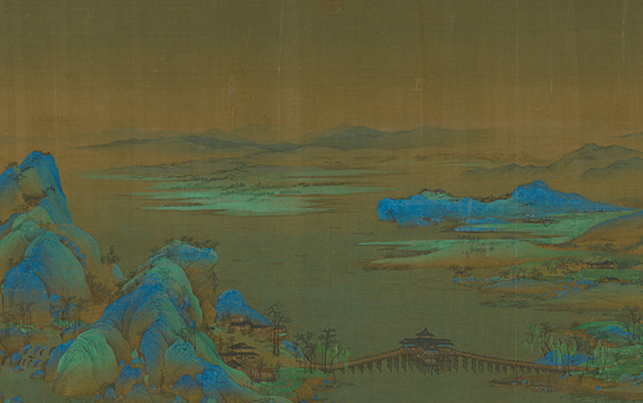 00 featured image of Wang Ximeng, A Panorama of Rivers and Mountains Scroll, details