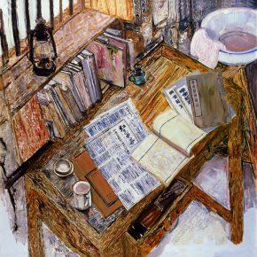 01 Dai Shihe Mao Zedong's Desk in Ruijin oil on canvas 120 x 120 cm 2009 290x290 - Dai Shihe