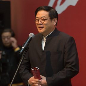 """02 Xu Li Party Secretary of China Artists Association and Executive Vice Chairman delivered a speech 290x290 - Local Customs & Humanities: Tian Shixin Art Exhibition """"Master Works"""" has opened"""