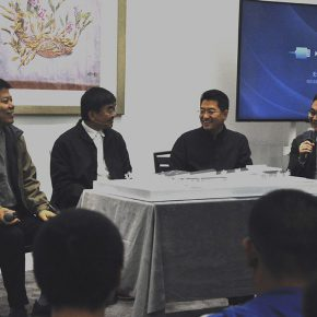 """04 The section of honored guests in a discussion 290x290 - Artistic Career as an Architect: Zhang Yonghe Talked About """"Art & Me"""""""