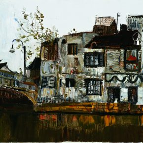 05 Dai Shihe Houses of the Wuxi Canal oil on canvas 60 x 80 cm 2009 290x290 - Dai Shihe