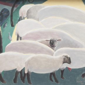 07 Han Xiuzhi The Sheep outside the City acrylic on canvas 40 × 50 cm 2017 290x290 - 2017 Tianjin Youth Art Week: Connecting the Current Era and Urban Life