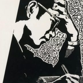 "07 Zhao Ruichun Goldbach Conjecture Mathematician Chen Jingrun black and white woodcut 1978 290x290 - ""Vibrant Sincerity – The Exhibition of Artworks Donated by Zhao Ruichun"" opened at CAFA Art Museum"