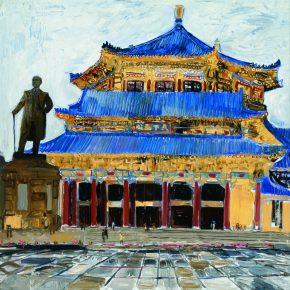 09 Dai Shihe Sun Yat sen Memorial Hall oil on canvas 120 x 120 cm 2011 290x290 - Dai Shihe