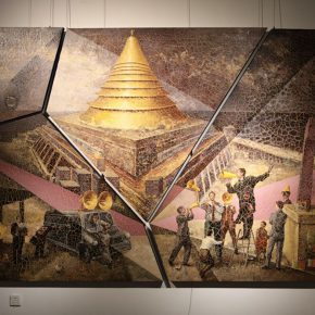 10 Jiang Xiaran The Fragmentation of Babel renderings of split pieces mixed media and acrylic on canvas 200 x 300 cm 2016 290x290 - 2017 Tianjin Youth Art Week: Connecting the Current Era and Urban Life