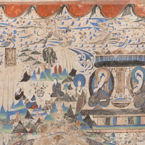 "10 The Mural of Five Hundred Robbers who Became the Buddha at the No. 285 Cave of the Mogao Grottoes Dunhuang replicas The West Wei Dynasty color 124 × 654 cm in the collection of Dunhuang Academy Ch 290x290 - Shao Yan: ""The Guide to the Zhao Mengfu and Wang Ximeng's Dream World – Beijing Palace Museum Annual Exhibition"""