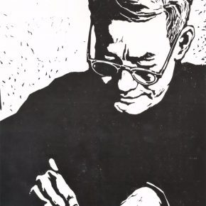 "11 Zhao Ruichun Prof. Li Hua black and white woodcut 1979 290x290 - ""Vibrant Sincerity – The Exhibition of Artworks Donated by Zhao Ruichun"" opened at CAFA Art Museum"