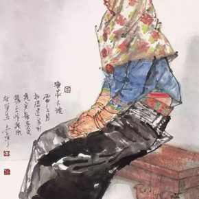 12 Li Yang The Wife of a Fisherman 136 × 68 cm 2016 2 290x290 - Li Yang: The Sketch as a Work – Building a Bridge between Training in Sketching and Artistic Creation
