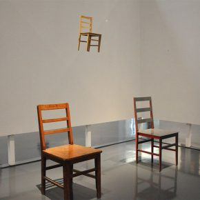 """23 Zhang Yonghe One and Four Chairs installation 2013 exhibition view 290x290 - Artistic Career as an Architect: Zhang Yonghe Talked About """"Art & Me"""""""